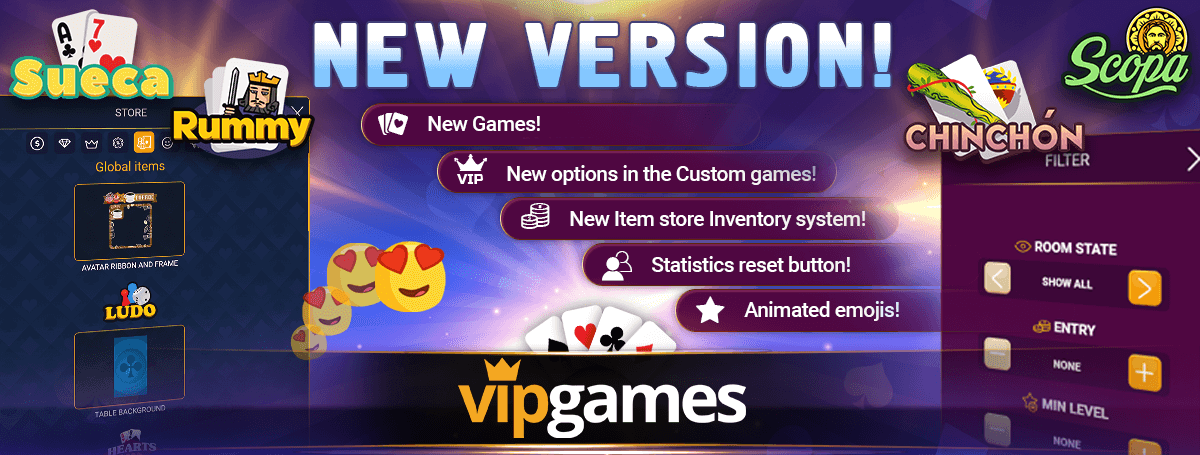 VIP Games new features